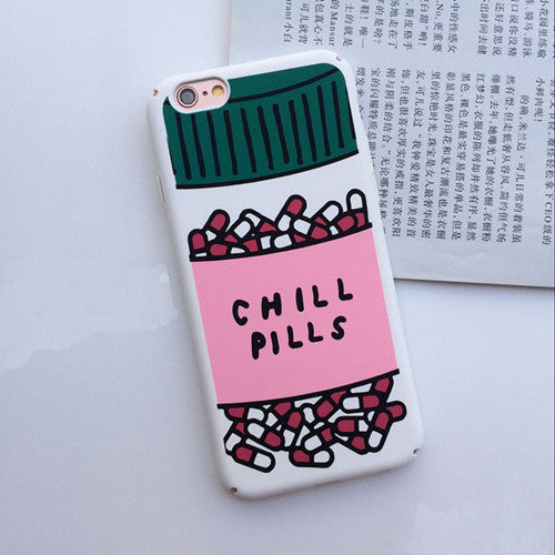 Luxury Love Potion Chill Pills Bottle Phone Cases For iPhone 6 Case For iphone 6S 6 Plus Hard PC Cartoon Cover Capa Fundas Coque