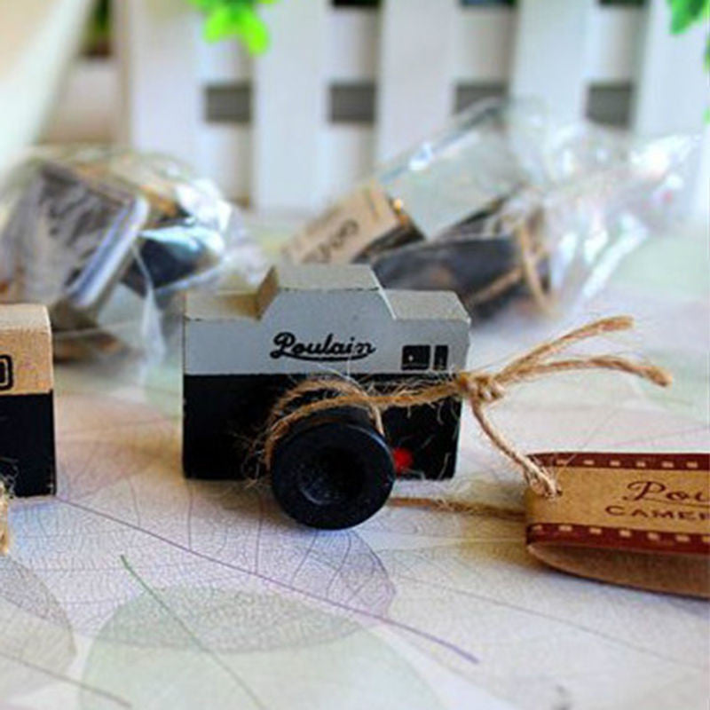 Lovely 2 Model Korea Wooden retro Camera Rubber Stamp Seal Gray & Brown DIY Free Shipping