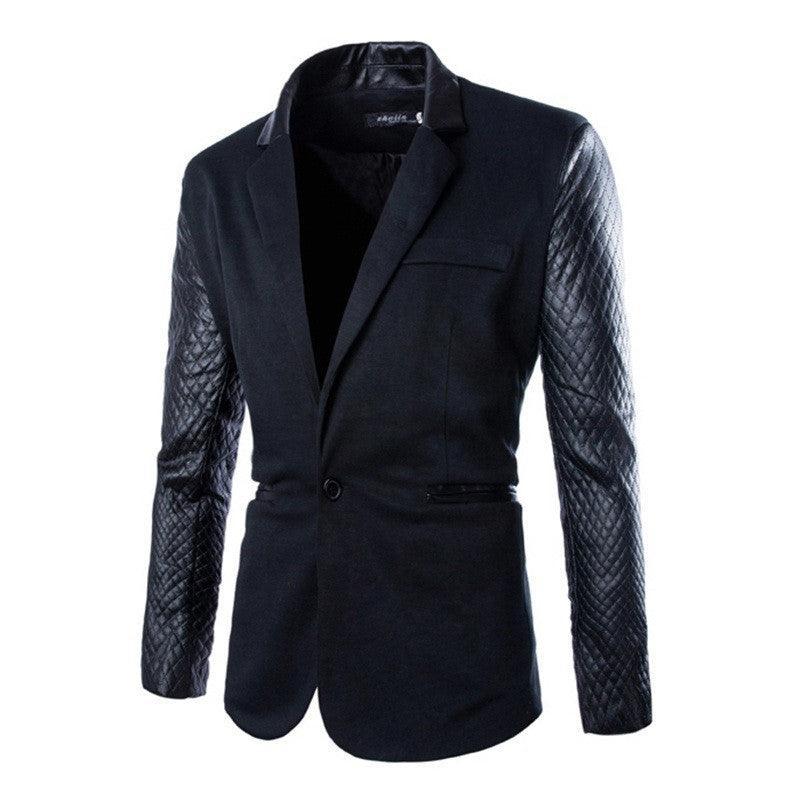 Men Motorcycle Suede Leather Jacket