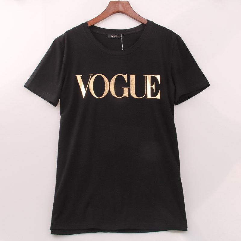 8 Colors S-4XL Fashion Brand T Shirt Women VOGUE Printed T-shirt Women Tops Tee Shirt Femme New Arrivals Hot Sale Casual Sakura