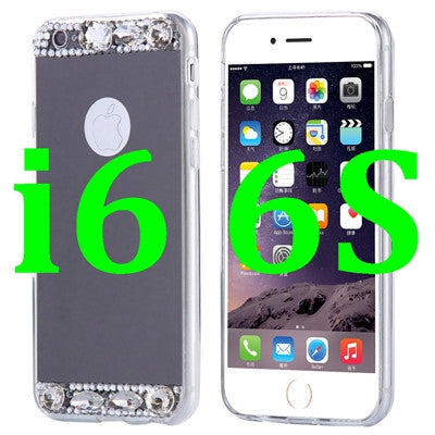 i6/6S/6 Plus Fashion Bling Glitter Mirror Case For iPhone 6 6S For iPhone 6/6S Plus 5S SE Slim Soft Diamond Crystal Phone Cover