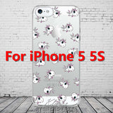 Cute Cartoon Unicorn Phone Cases Cover For iPhone 5 5s SE Soft TPU Protective Coque Fundas
