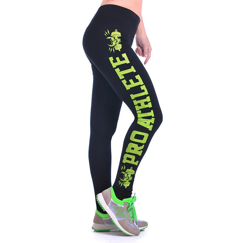 S-XL New 2016 Women Printed Leggings Fashion Work Out Knitted Sport Leggings Fitness Gym Stretch Slim Black Leggings
