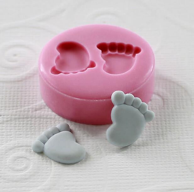 Very  Very  Tinny   ( 12mm)Mini Feet/Foot  Silicone Fondant Mold For Cake Decorating Tools Cake mold Chocolate