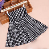 Spring Autumn High Waist Knitted Skirts Women Pleated mini Skirt Casual Elastic Flared Skirt Female midi Short Skirt Woman