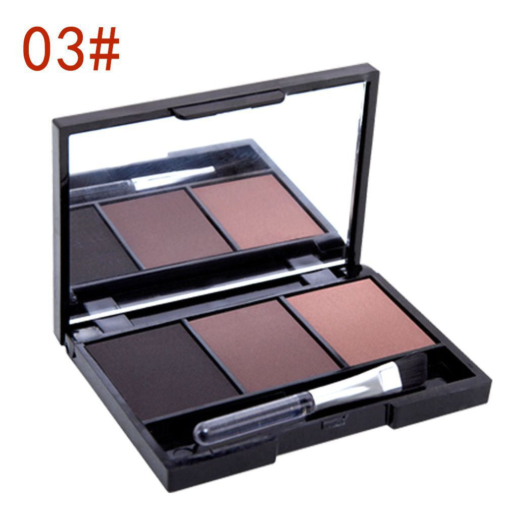 3 Colors Set Women Makeup Eyeshadow Palette Eyebrow Eye Shadow Powder Cosmetic New