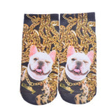 FREE Shipping Trendy Europe 3D Printing Dog&Cat Pattern Lovely 100% Cotton Socks