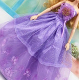 2016 New Beautiful Handmade Party Clothes Fashion Dress for Noble Barbieelieds Doll Mixed style 10 Doll Dress gt112
