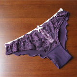 Plus Size Underwear Women Panties Sexy Bow Briefs See Through Female Seamless Lace Lingerie Gauze Panties PM506