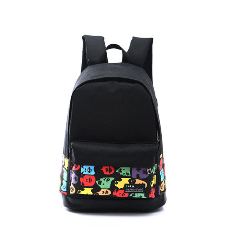 Fahsion Women Printing Backpack Preppy Style Book Bags For Laptop Vintage Rucksack