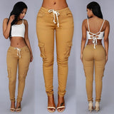 Sexy fashion new style women high waist jeans Full Length Ripped jeans Skinny  for women's jeans slim pants