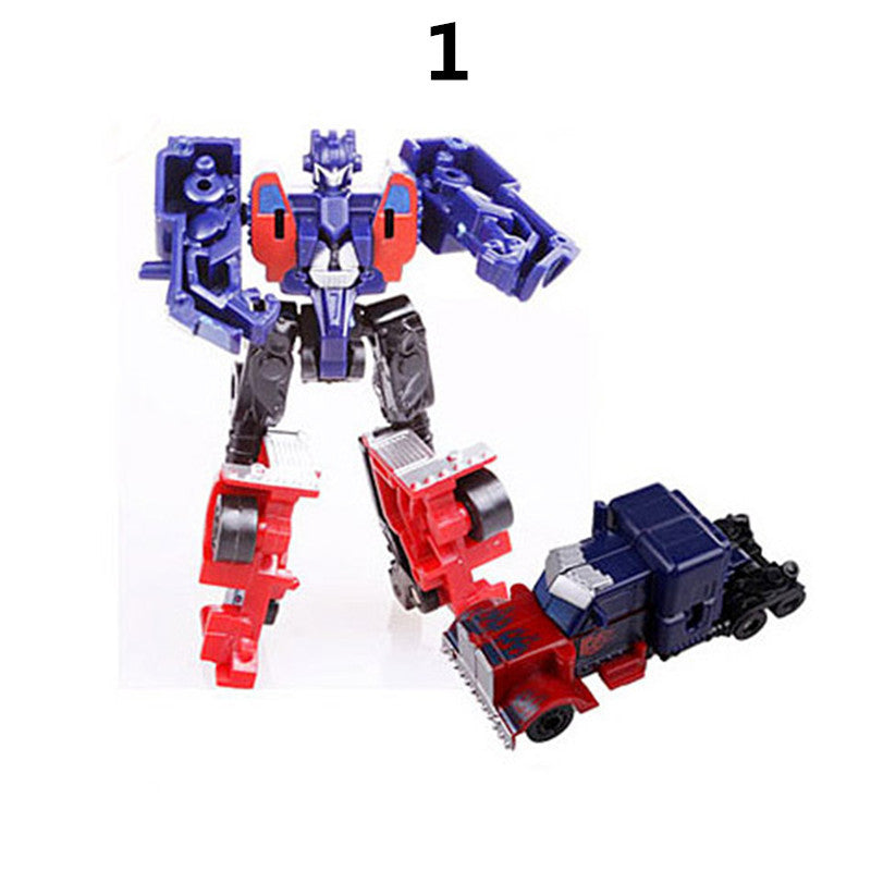 J243 New Arrival Mini Classic Transformation Plastic Robot Cars Action & Toy Figures Kids Education Toy Gifts Wholesale