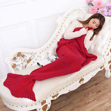 yarn knitted Mermaid Tail blanket handmade crochet mermaid blanket adult throw bed Wrap super soft sleeping bag 90cm 195cm