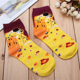 Fashion Painting Art  Women Cotton Socks Funny Novelty Starry Night Vintage Retro