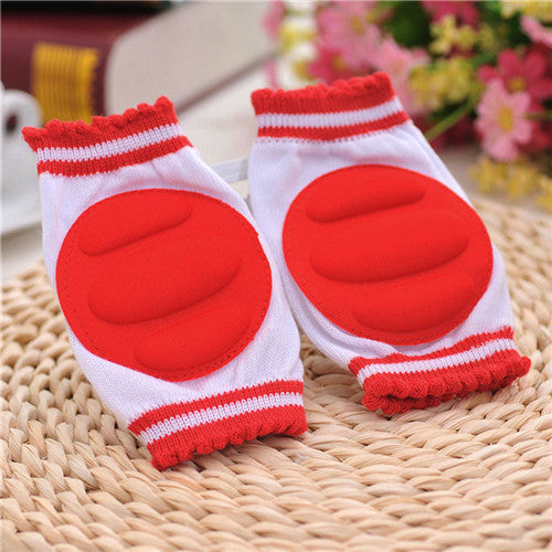 BS#S Baby Crawling Knee Pads Cotton Baby Safety Crawling Elbow Cushion Toddlers Knee Protector knee Pads Kids