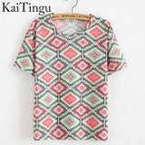 KaiTingu Brand 2016 New Fashion Vintage Summer Style Harajuku T Shirt Women Clothes Tops Emoji Funny Tee Shirts Ice Cream Print