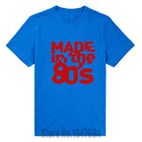 New MADE in the 80's T Shirt Tshirts Cotton Short Sleeve Funny College 1980 Retro Birthday T-shirts