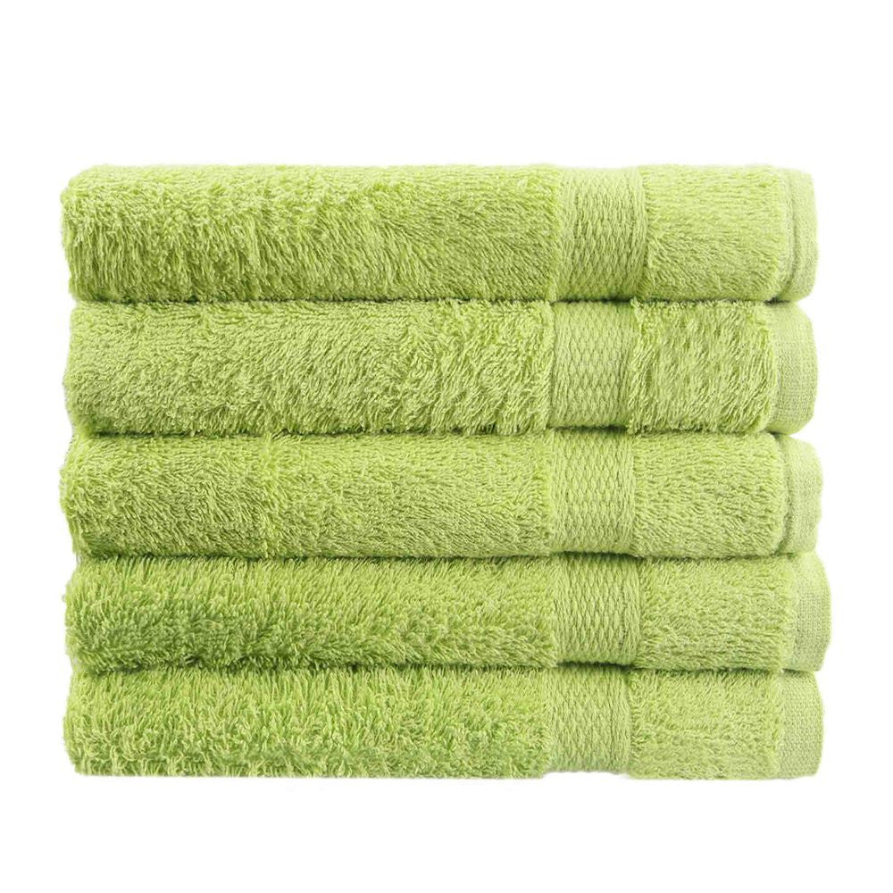 1 PCS/Lot Free Shipping 100% Cotton Towel Solid Green Bath Towel Face Towel Plain Dyed Quick-Dry 50cm *80 cm Woven Roll Hot Sell