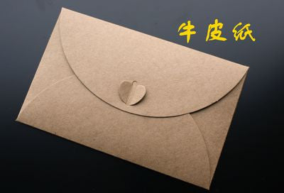 New Vintage Retro European Style Colored Kraft Paper Envelope For Wedding Business Kids Gift Korean Stationery Free Shipping 269