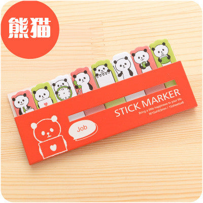 Mini Cute Kawaii Cartoon Panda Bear Rabbit Memo Pad Lovely Girl Sheep Pig Post It Note Korean Stationery Gift Free shipping 155