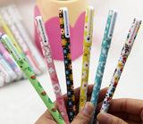 6 Pcs / Lot Beautiful Starry Sky Pattern and Flower Polka Dot Color Gel Pen for School Office Writing Stationery