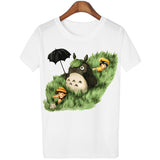 New Cute Totoro T shirt Women Cartoon 3D Harajuku Casual Tops Tees Blusa Plus Size O Neck T-shirt camisetas G