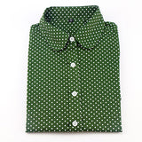 Women Long Sleeve Polka Dot Shirt