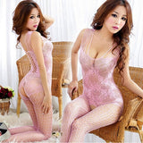 Super Deal 2016, New Sexy Lingerie Woman Open Crotch Mesh Fishnet Sleepwear Bodystocking Sex Toy Lingerie Mujer Babydolls