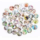 MJARTORIA 10PCs Glass Cabochon 20mm Flatback Dome Cabochon Embellishments Findings Fit DIY Accessories Jewelry Making Supplies