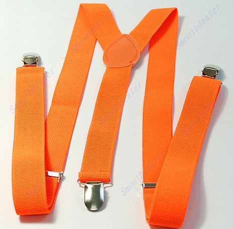Free Shipping Unisex Clip-on Braces Elastic Y-back Suspenders 7 color for you choice Jeans Suspenders