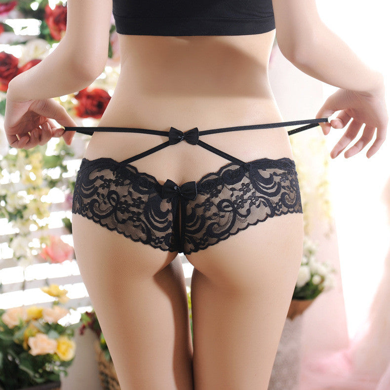 12107 New 2016 Brand Open Crotch String Sexy Underwear Women Transparent Panties Seamless Calcinha Ropa Mujer Thong Fanga Briefs