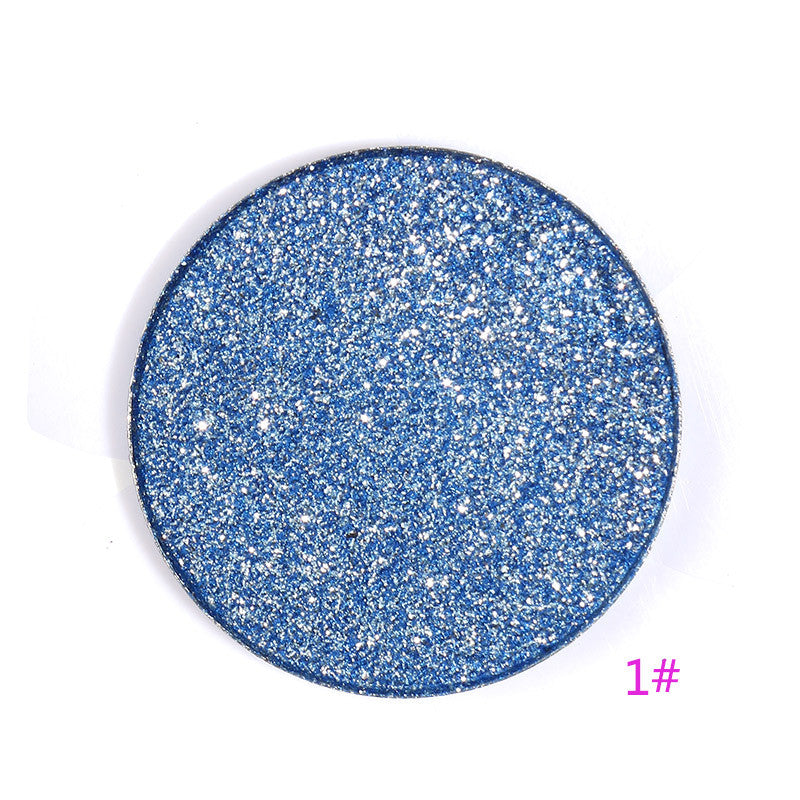 JURLINGO 16 Color Diamond Eye Shadow Palette Make Up Professional Shimmer Single Eyeshadow Pigment Nude Shadow Makeup Cosmetics