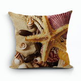 Modern Home Throw Pillows Cushion Covers Sea Stars Shell Sea Side Capa De Almofadas 45X45cm Cojiines For Sofa Home Decor