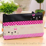 (1Pc/Sell) Kawaii Pencil Case Canvas School Supplies Bts Stationery Gift Estuches School Cute Pencil Box Pencilcase Pencil Bag