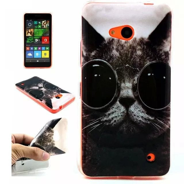Owl Cat Bear Elephant Flower Soft TPU Silicone Phone Case for Microsoft Nokia Lumia 640 Ultra Thin Gel Cartoon Back Covers