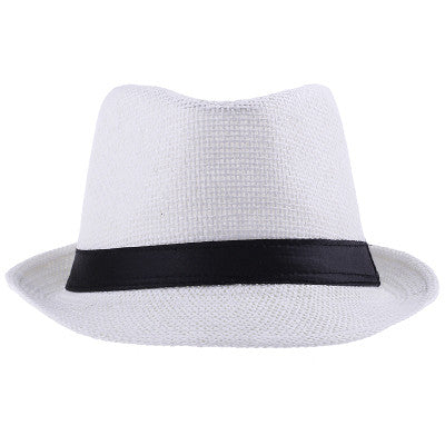 6 Colors Solid Straw Women Beach Summer Hat Fedoras Casual Panama Sun Hats Free Shipping