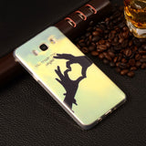 "J510 Cartoon Gel Silicone Soft TPU Cover For Samsung Galaxy J5 (2016) J510 5.2""  Plastic Back Skin Fundas Phone Protective Case"