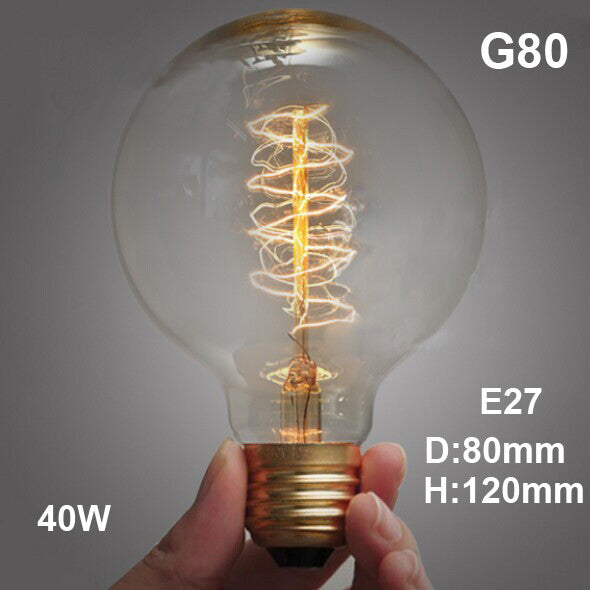 Retro Vintage 40W Edison light bulb chandelier E27 220V lamp industrial Incandescent Bulbs Filament Edison light bulb lamp