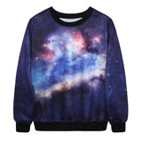 2016 Brand New Sweatshirts For Men/Women 3D Galaxy Space Crewneck Casual Hoodies Loose Tracksuit Multi-Color