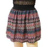 2016 new fashion Pleated Retro High Waist Summer floral plaid short chiffon skirts mini skirt  | 10 Styles