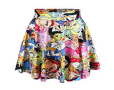2016 Summer Women Pleated Skirt Adventure Time Stawberry Princess SKIRT Saia S/M/L/XL Plus Size