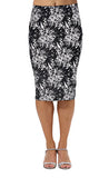Yomsong New Fashion Wholesale Summer Women's Pencil Skirt  High Waist Floral Printing Midi Skirt Femininas  21 Colors 204
