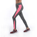 2016 Women Lady running sport pant  Fitness Legging light grey pink spring gym activewear legging 1208 American Original Order
