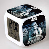 LED Alarm Clock Despertador Digital Star War Vader Figures infantile Stromtrooper Reloj Reveil Character  Boy Girl Children Gift