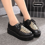 Creepers Shoes Woman plus size 35-41 platform Women Flats Shoes 2016