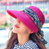2016 Summer Style Women Foldable Wide Large Brim Floppy Beach Gorro Hats Chapeu Outdoors Visors Cap Sun Collapsible Anti-Uv Hat