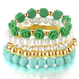 New Sweet Multilayer Elastic Bracelet