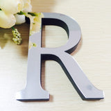 10cmx8cmx1.2cm(thick) wedding love letters Home decoration English 3D mirror wall Stickers Alphabet Home Decor LOGO For wall