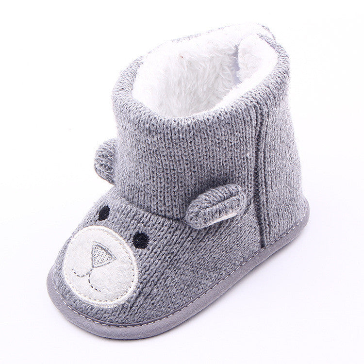 winter warm lovely baby shoes boys first walkers knitted sweater baby boots girls toddler shoes 0-1 years olds baby boy shoes