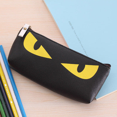 New Cute Kawaii Cat Pencil Case Pu Leather Pen Bag for Kits Student Gift Korean Stationery Free shipping 1157